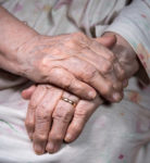 Old Wrinkled Womans Hands